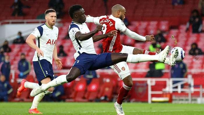 Alexandre Lacazette Davinson Sanchez Arsenal vs Tottenham Premier League 2020-21