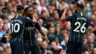 Aguero Mahrez Sterling Manchester City