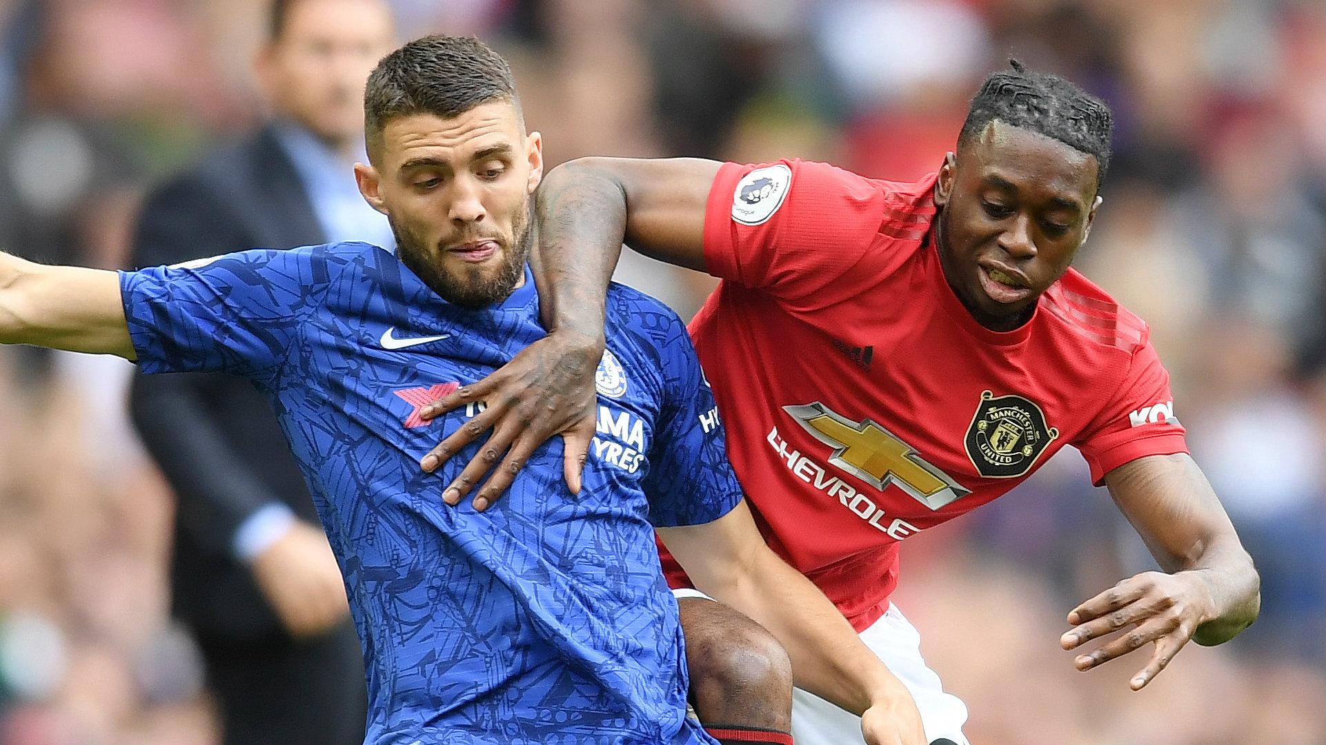 Aaron Wan-Bissaka Mateo Kovacic Man Utd vs Chelsea 2019-20