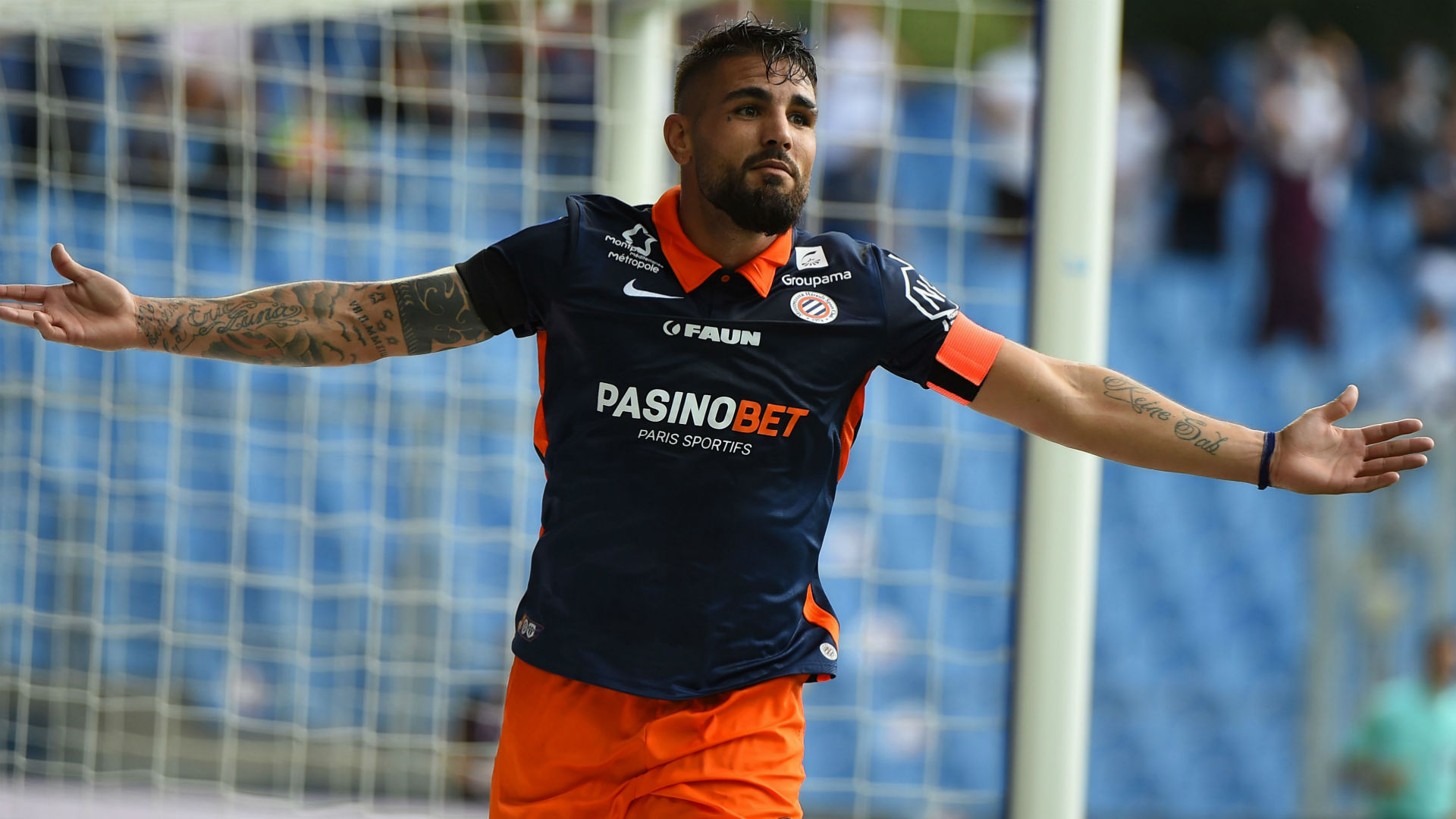 Delort at the double as Montpellier edge Strasbourg in seven-goal thriller