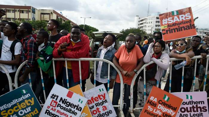 Nigeria youths protest SARS