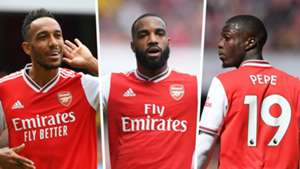 Aubameyang Lacazette Pepe Arsenal