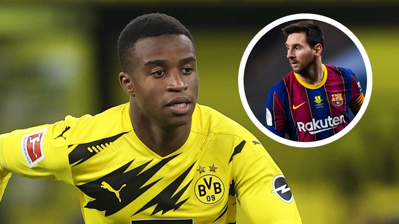 Youssoufa Moukoko Lionel Messi