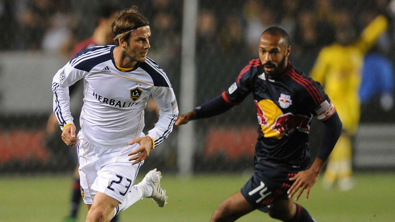 Thierry Henry David Beckham MLS 05072011