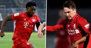 Alphonso Davies Bayern Munich Liam Millar Liverpool GFX