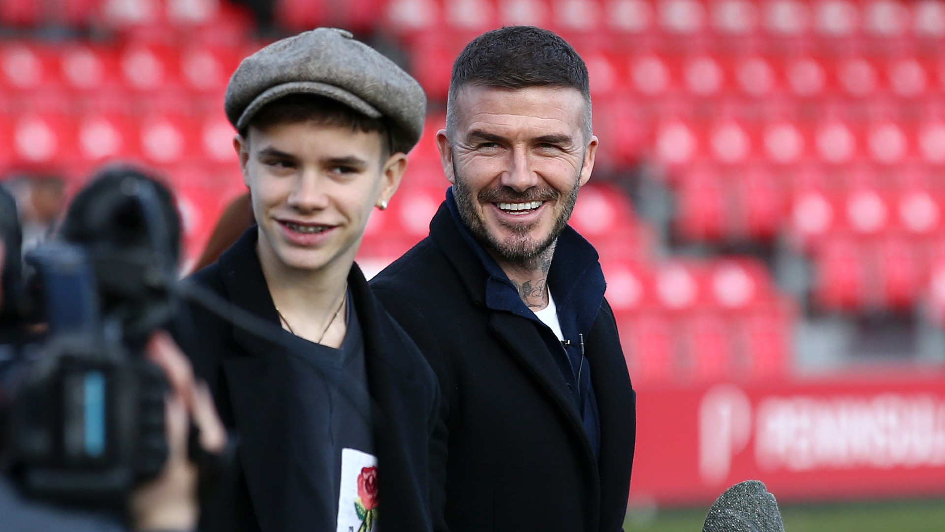 Beckham tells Neville how to handle Romeo after professional debut for Man Utd legend's son