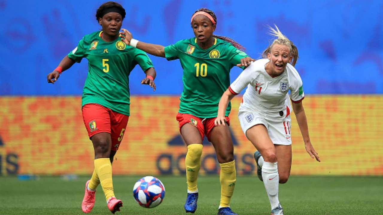 Cameroon's Ejangue and England's Duggan