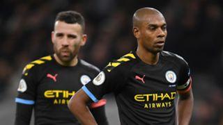 Nicolas Otamendi Fernandinho Manchester City Tottenham 020220