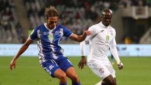 Maritzburg United Andrea Fileccia and Free State Stars Goodman Dlamini, May 2018
