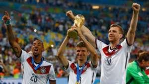 Jerome Boateng, Thomas Muller, Per Mertesacker Germany 2014 World Cup