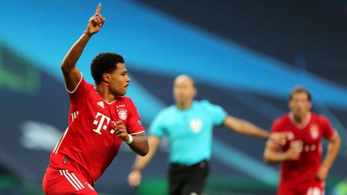 Serge Gnabry, Bayern Munich scores vs Lyon, Champions League 2019-20