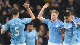 Manchester City celebrate vs Chelsea