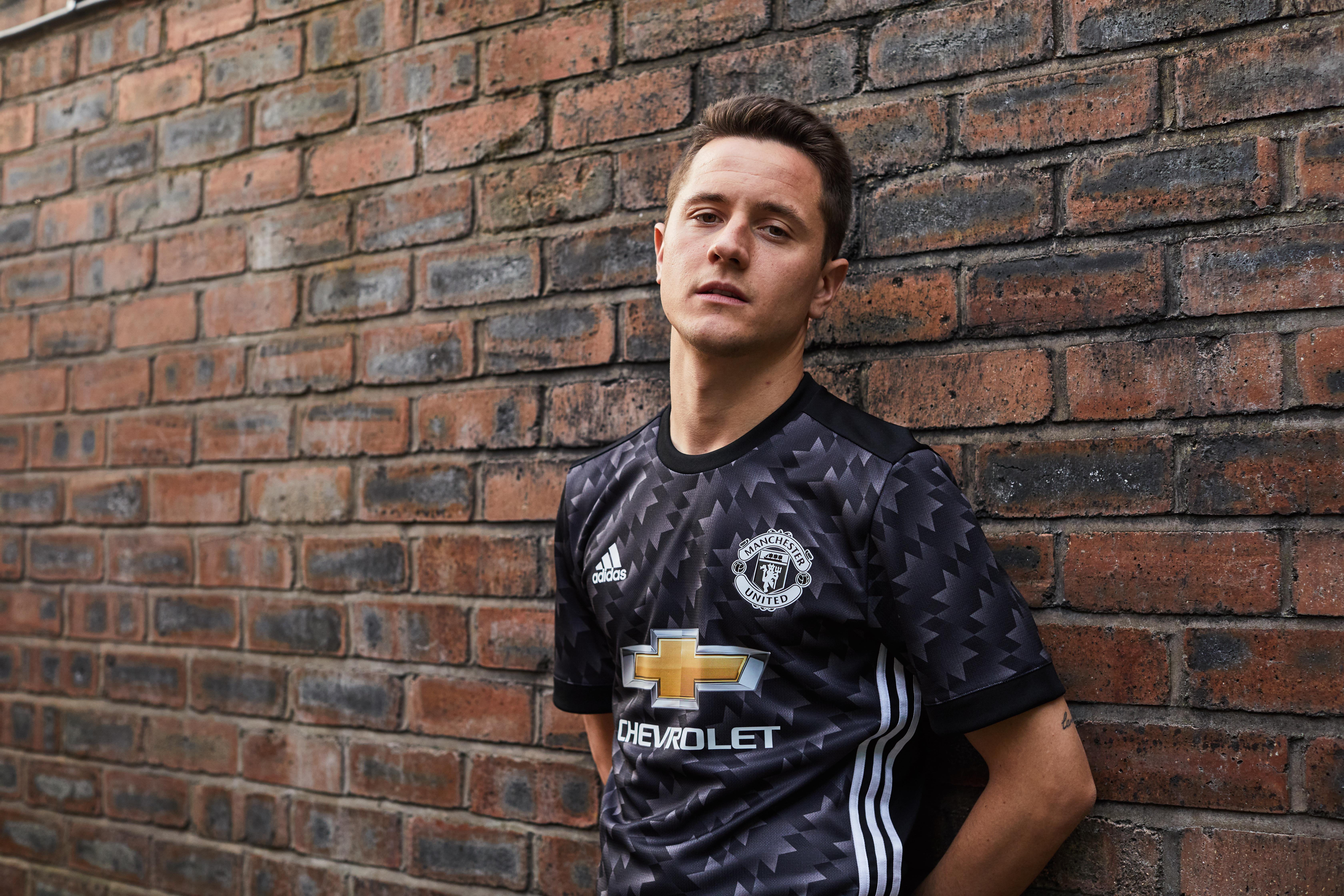 Gallery Man Utd Stars Model New Black Away Shirt For 2017