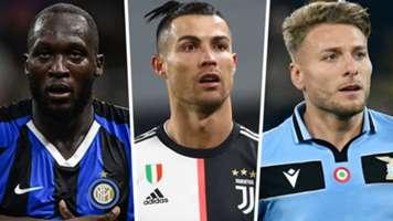 Romelu Lukaku Cristiano Ronaldo Ciro Immobile 2019-20