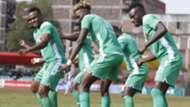 Gor Mahia players Clifton Miheso, Kenneth Muguna and Philemon Otieno.