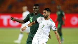 Nigeria's Oghenekaro Etebo and Algeria's Riyad Mahrez Afcon 2019