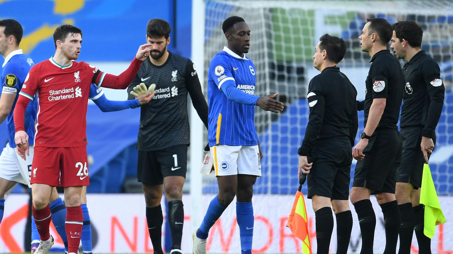 Kontroversial Brighton Imbangi Liverpool Goal Com