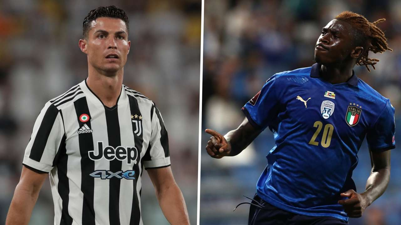 Cristiano Ronaldo Moise Kean Juventus Italy GFX
