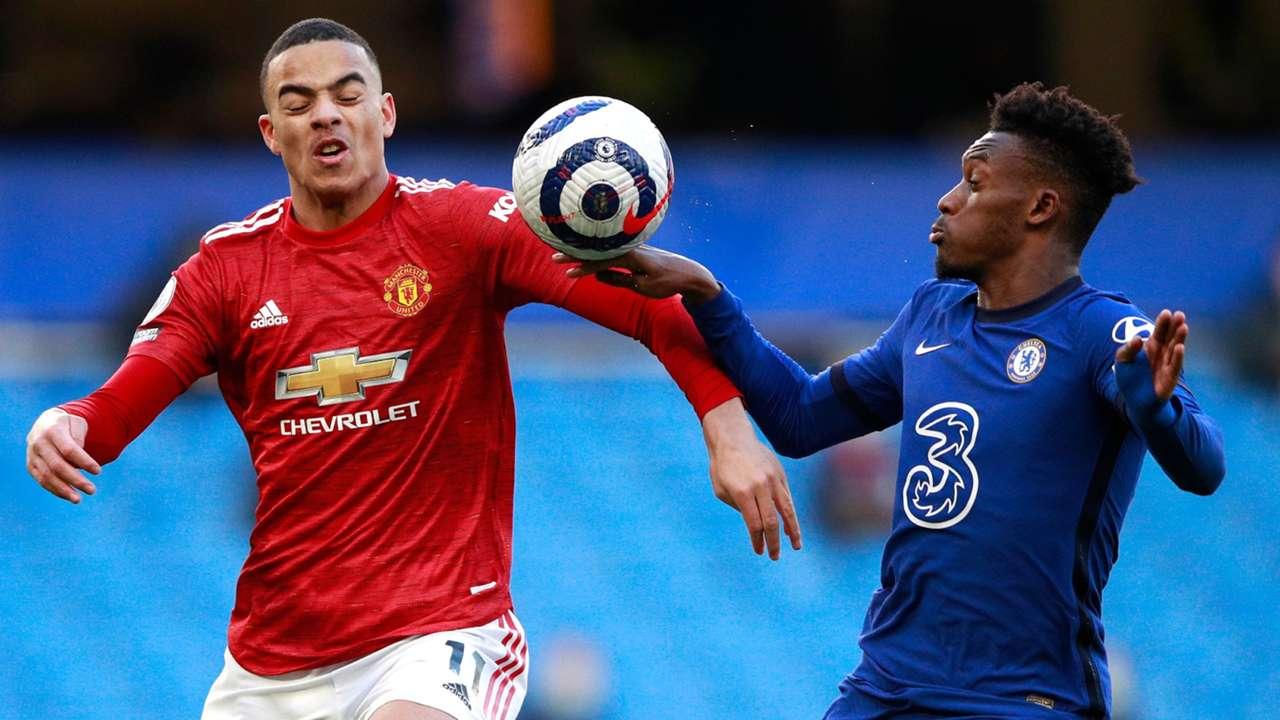 Callum Hodson-Odoi Mason Greenwood Chelsea vs Man Utd Premier League 2020-21