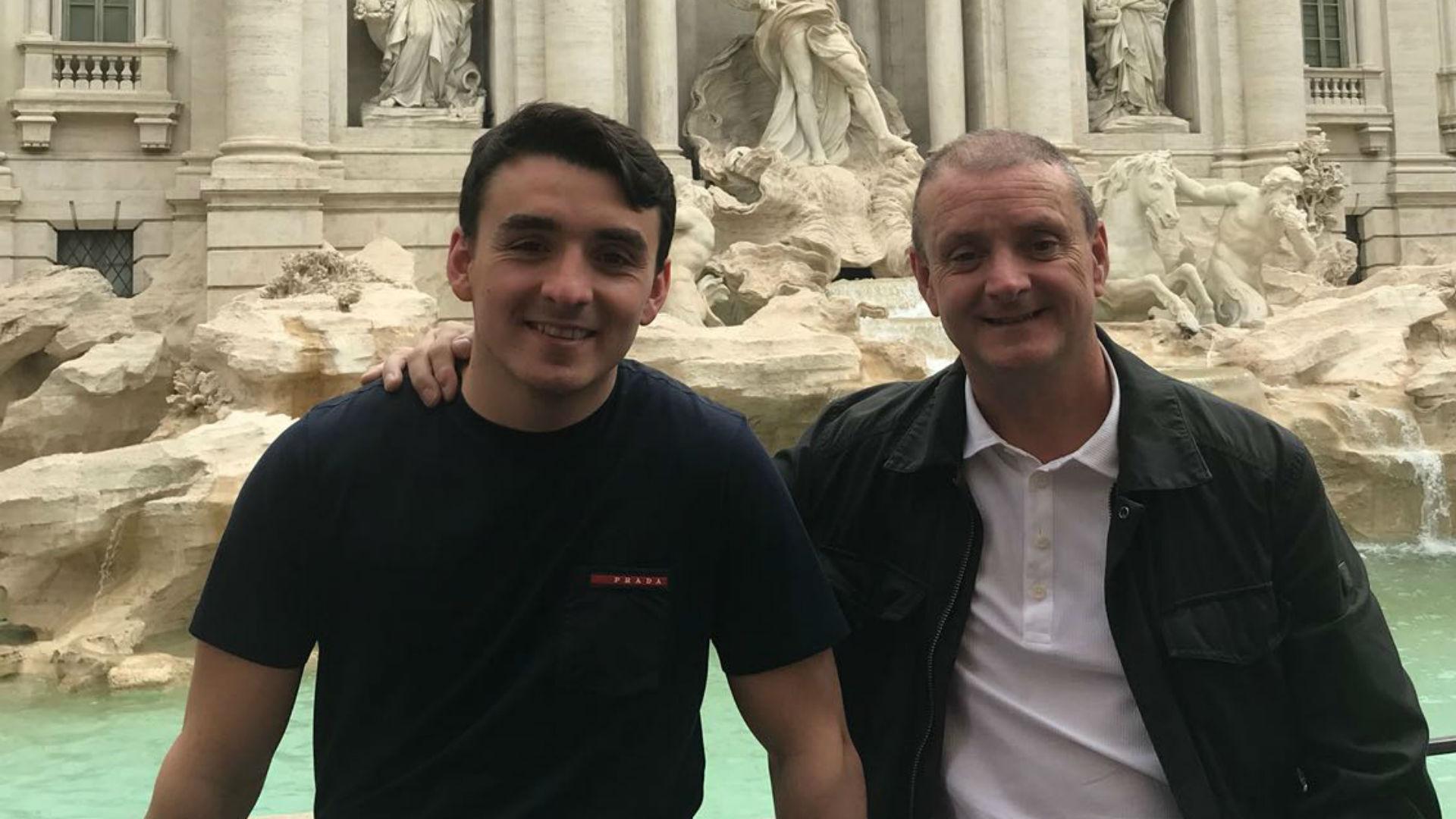 Stephen Monaghan and son Joe