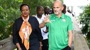 CS Amina Mohamed and Harambee Stars in France.