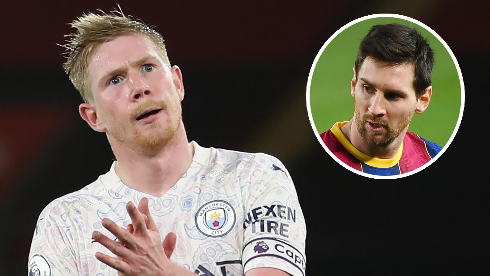 Vì Messi, Man City có đề nghị bất thường với De Bruyne