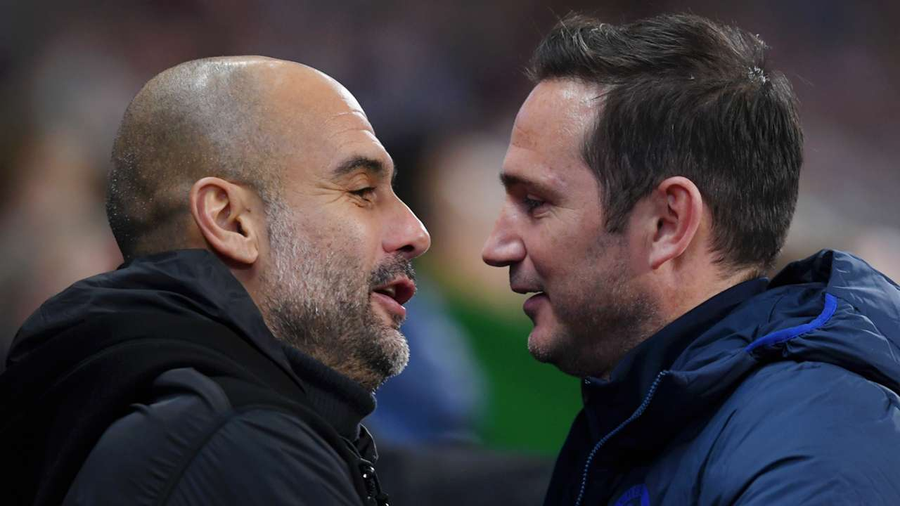 Pep Guardiola Frank Lampard Manchester City Chelsea