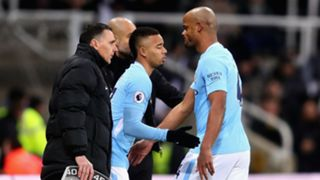 Vincent Kompany Gabriel Jesus Manchester City