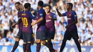 FC Barcelona Messi Suarez Dembele 15092018