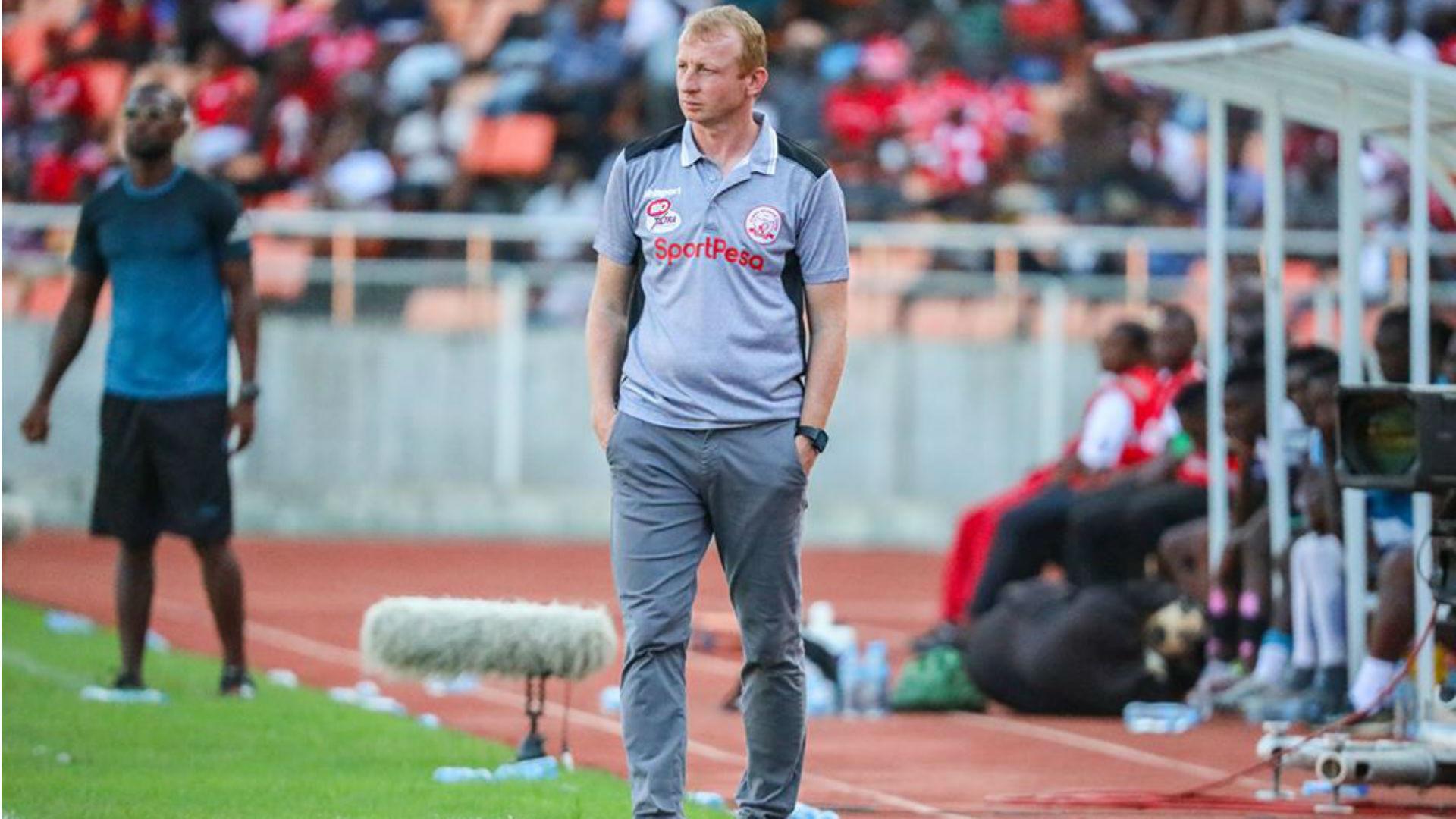 Simba SC coach Vanderbroek unhappy with state of Kirumba pitch