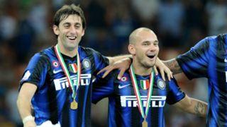 Diego Milito Wesley Sneijder Inter