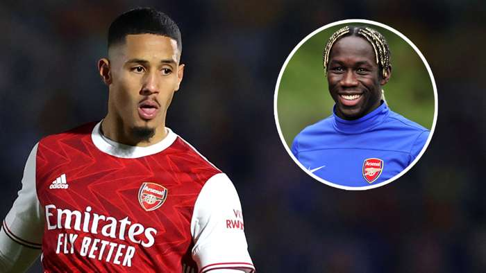 William Saliba Bacary Sagna Arsenal
