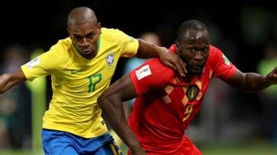 Fernandinho Romelu Lukaku Brazil Belgium 2018