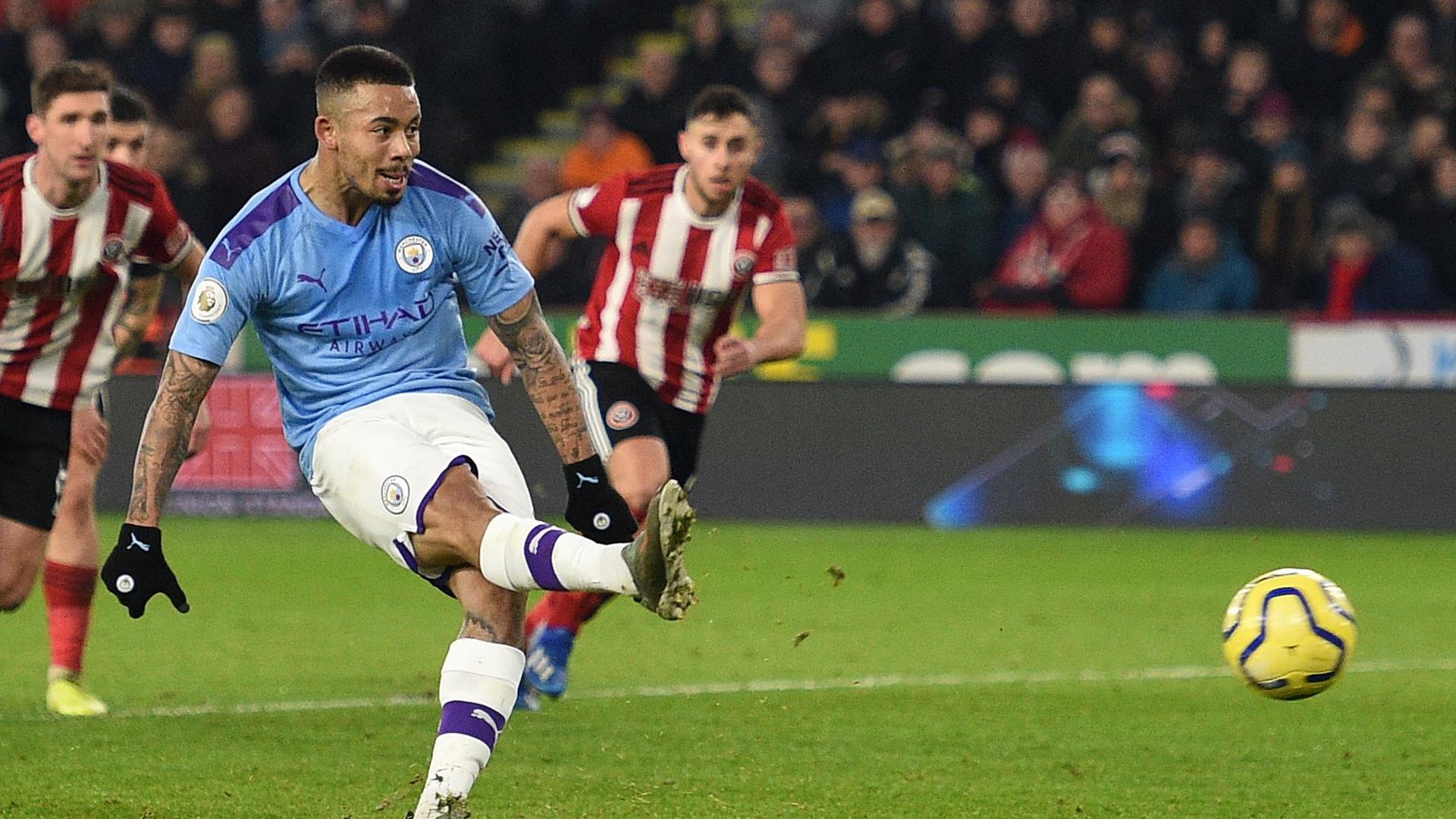 Gabriel Jesus not frightened of penalties despite Man City striker's run of misses
