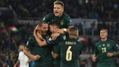 Italy celebrating Greece