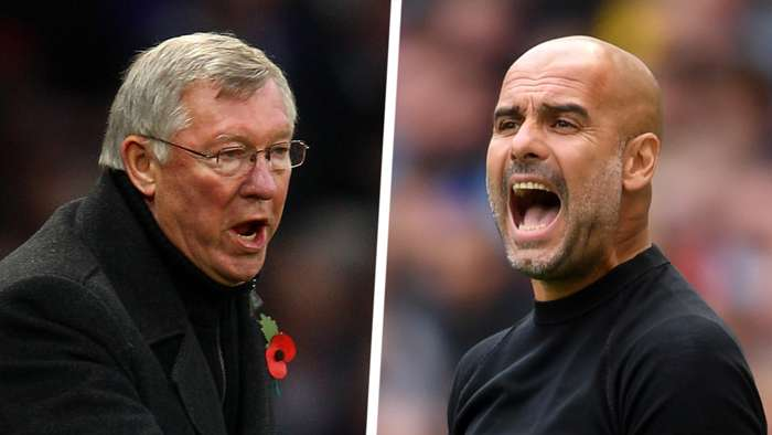 Sir Alex Ferguson Pep Guardiola Man Utd Man City