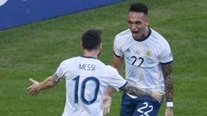 Lionel Messi Lautaro Martinez Argentina 2019