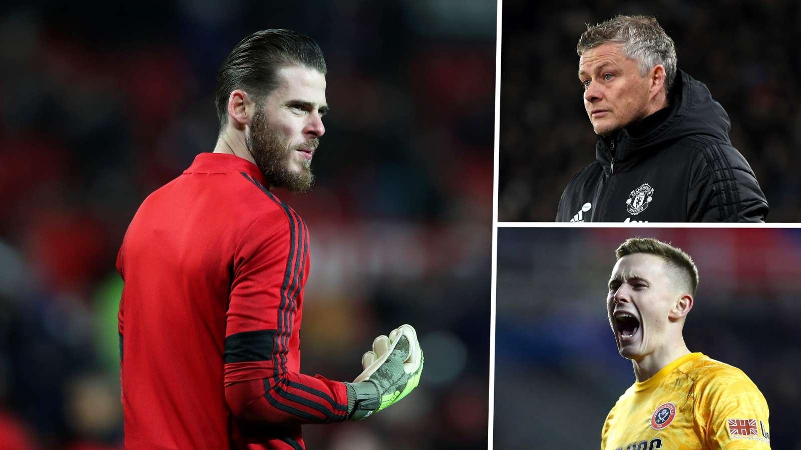 David de Gea Ole Gunnar Solskjaer Dean Henderson Man Utd 2019-20 GFX