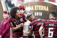 Jogadores do Flamengo comemoram a conquista da Copa Conmebol Libertadores