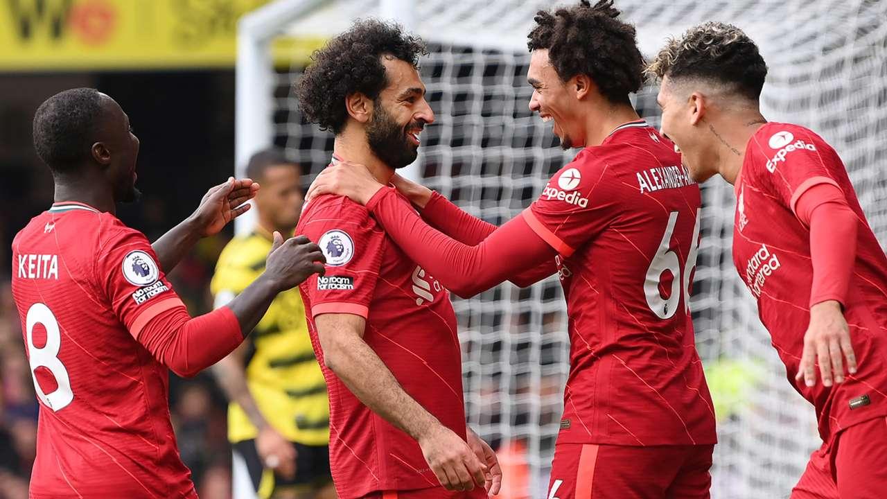 Mohamed Salah Liverpool Watford Premier League 2021-22