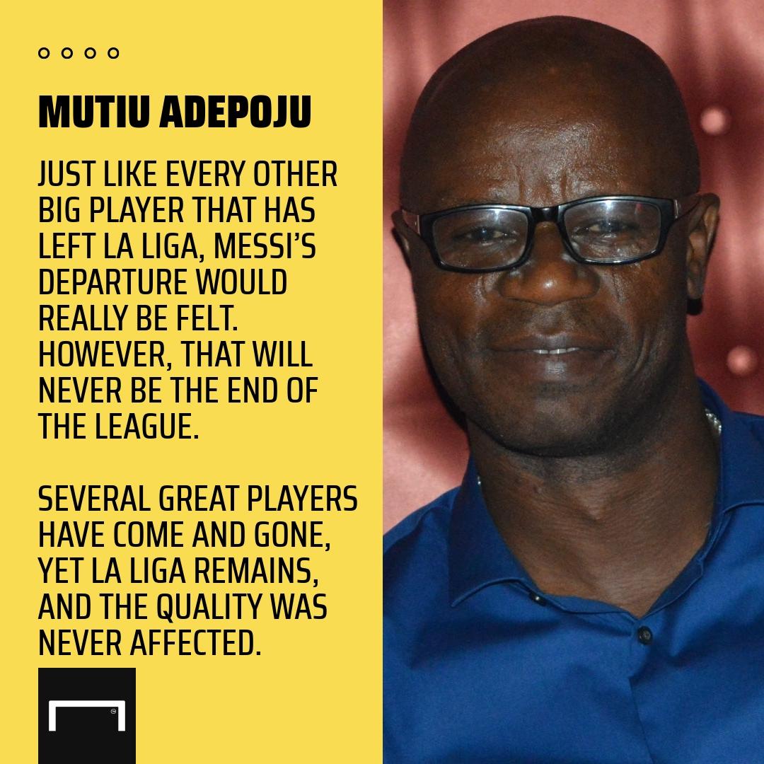 Messi's Barcelona exit not the end of La Liga – Adepoju