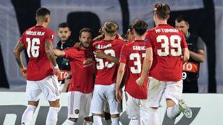Manchester United celebrate 2019-20
