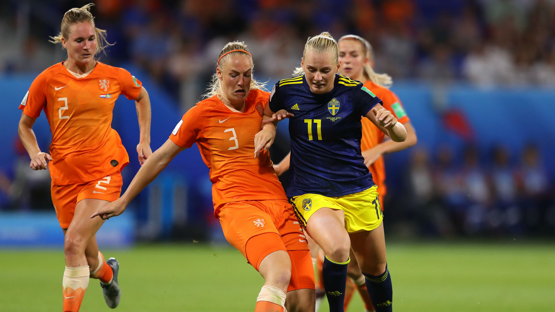 Stina Blackstenius Stefanie Van der Gragt Sweden Netherlands Women's World Cup 2019