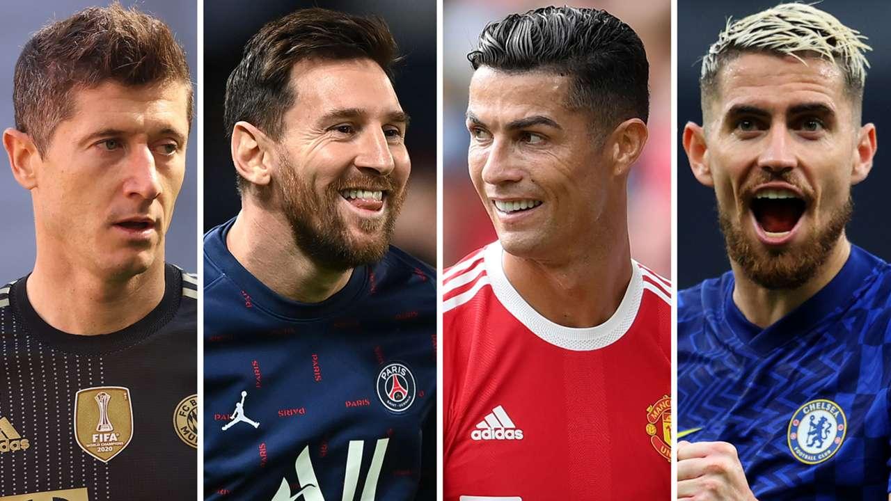 Robert Lewandowski Lionel Messi Cristiano Ronaldo Jorginho