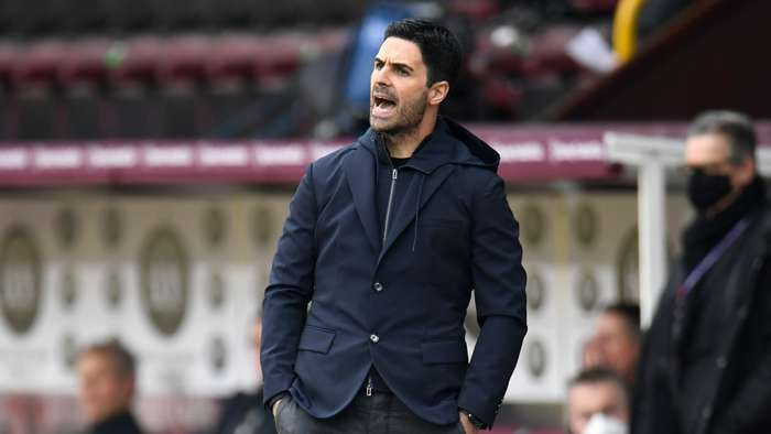 Mikel Arteta Arsenal Burnley 2020-21