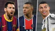 Messi Mbappe Ronaldo 2021