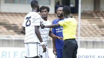 Felly Mulumba of Bandari FC v Al Ahly Shendi.