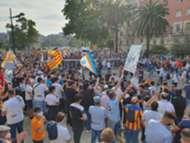 Manifestación de la afición del Valencia