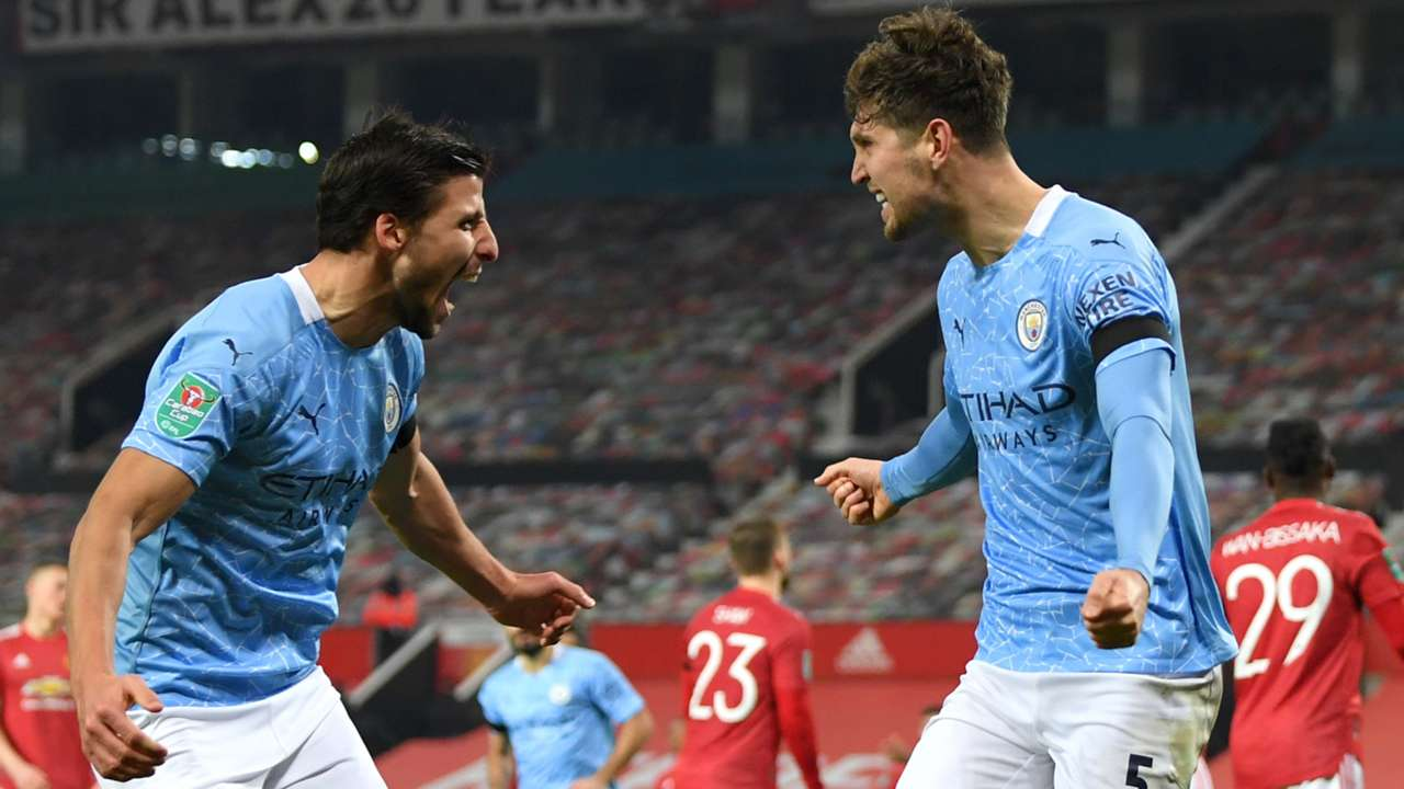 Ruben Dias, John Stones, Manchester City, Premier League 2020-21
