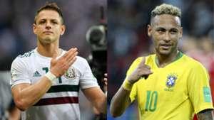 Chicharito - Neymar | México - Brasil